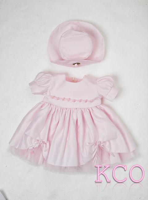 York flower Dress Pink ~ girls dress